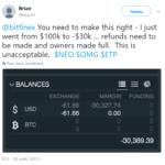 Глюк (или обман?) биржи Bitfinex обанкротил многих пользователей.
