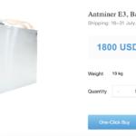 Bitmain повышает цену на ASIC для Ethereum — Antminer E3