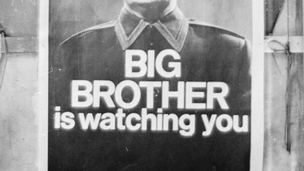 Большой брат Оруэлл плакат