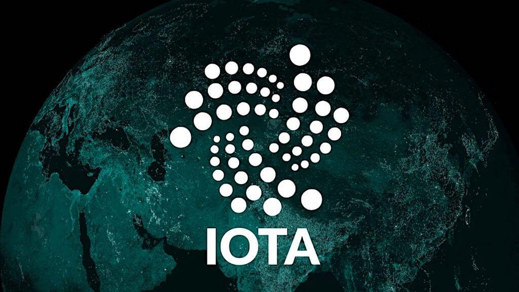 iota логотип на темном фоне интернет вещей