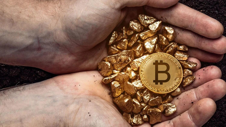 Золото Биткоин монета