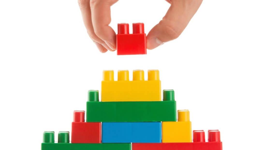 Lego блоки постройка блокчейн