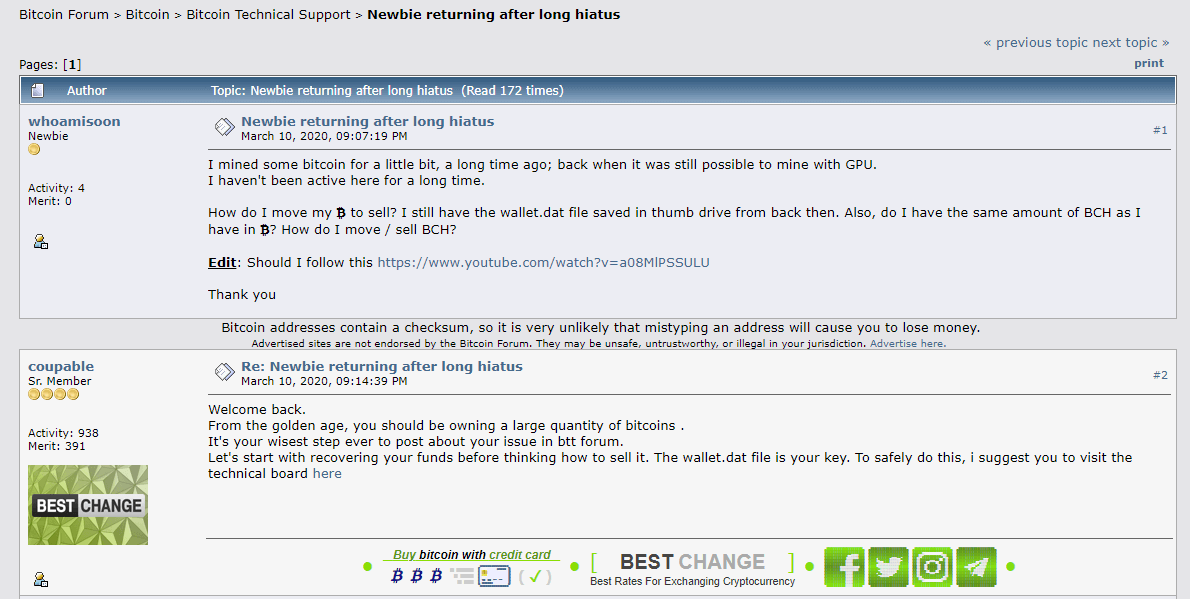 Форум майнинг Биткоин Bitcointalk