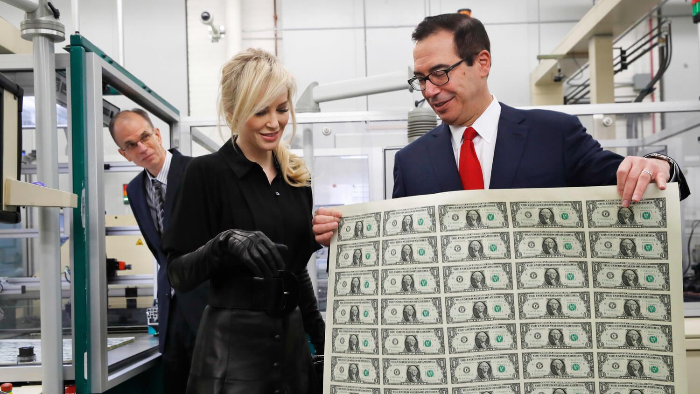 доллары печать