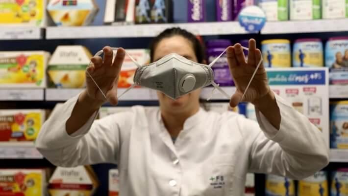 Респиратор маска коронавирус