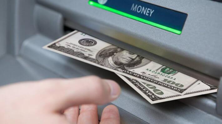 Деньги банкомат вывод