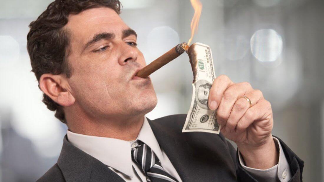 Богатый человек мем сигара доллар