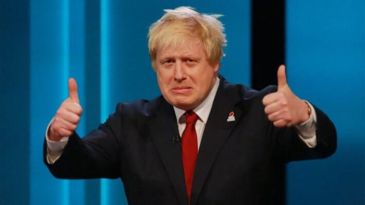 Палец вверх Борис Джонсон Brexit