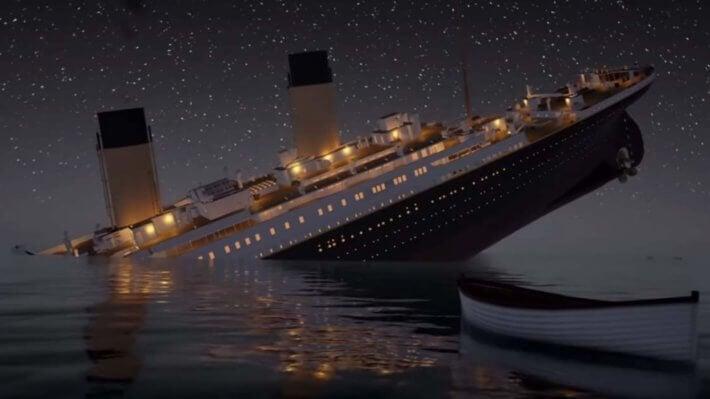 Титаник корабль тонет катастрофа