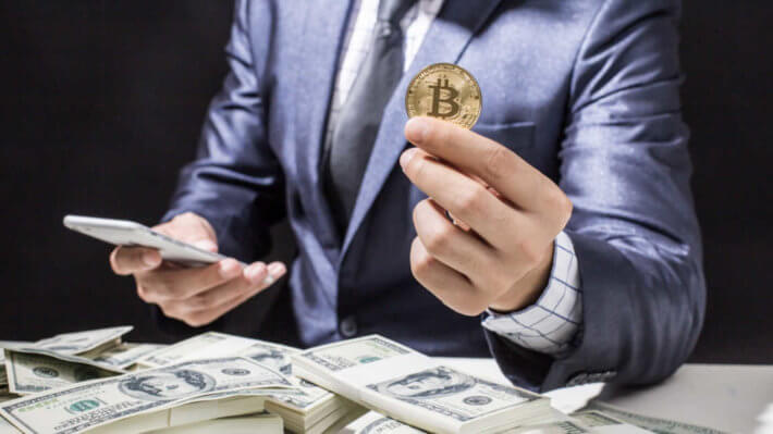 монета Биткоин криптовалюта