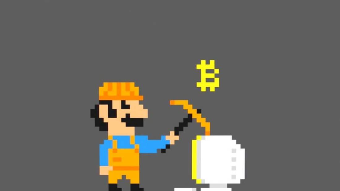 pixel art биткоин майнинг