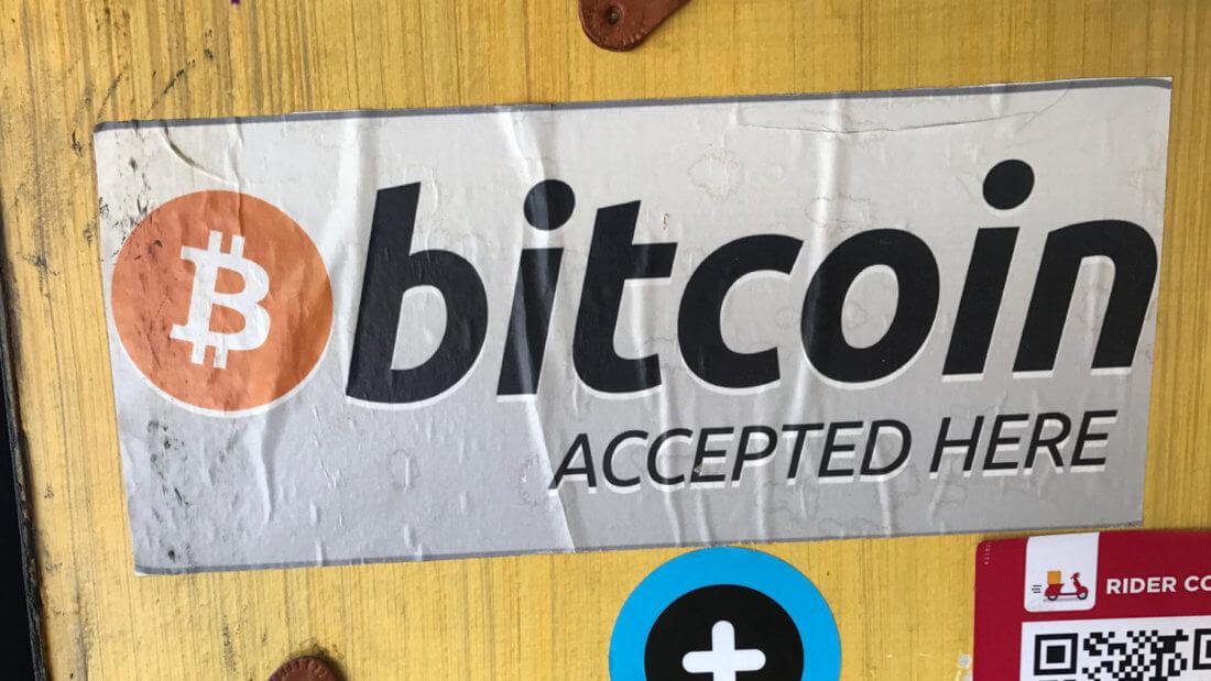 Биткоин вывеска криптовалюта