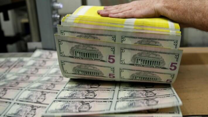 доллар купюры валюта США