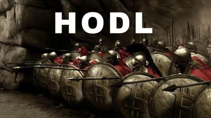 спартанцы мем hodl криптовалюты