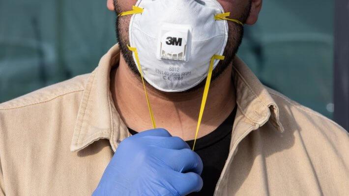 Маска N95 3M респиратор коронавирус