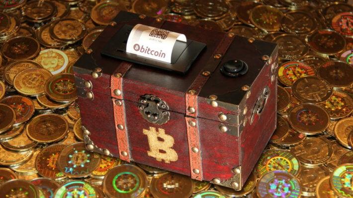 Сокровище биткоин ящик