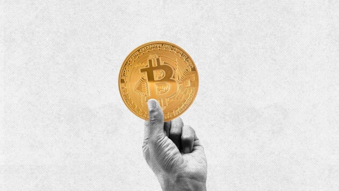 биткоин рука монета
