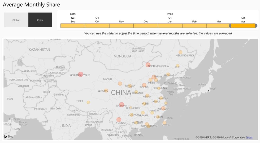 Карта майнеров Биткоина китай
