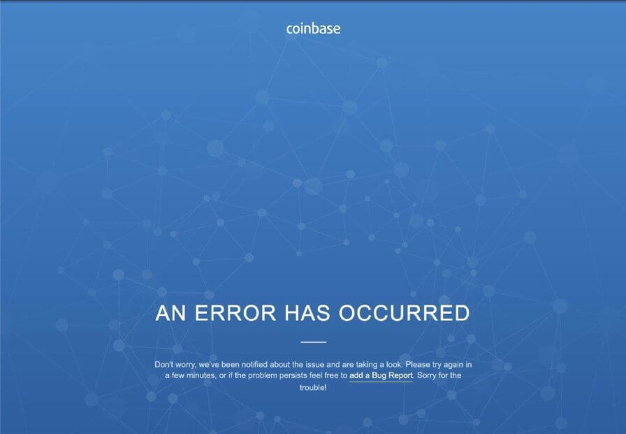 Coinbase ошибка биржа