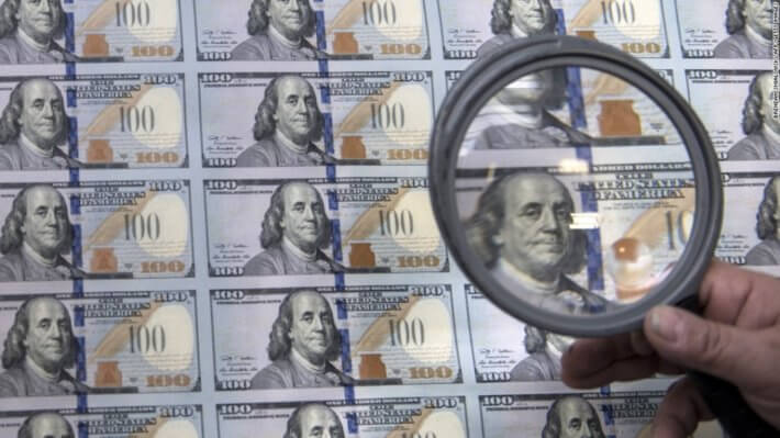печать доллары валюта