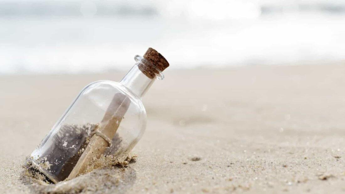 сообщение бутылка море