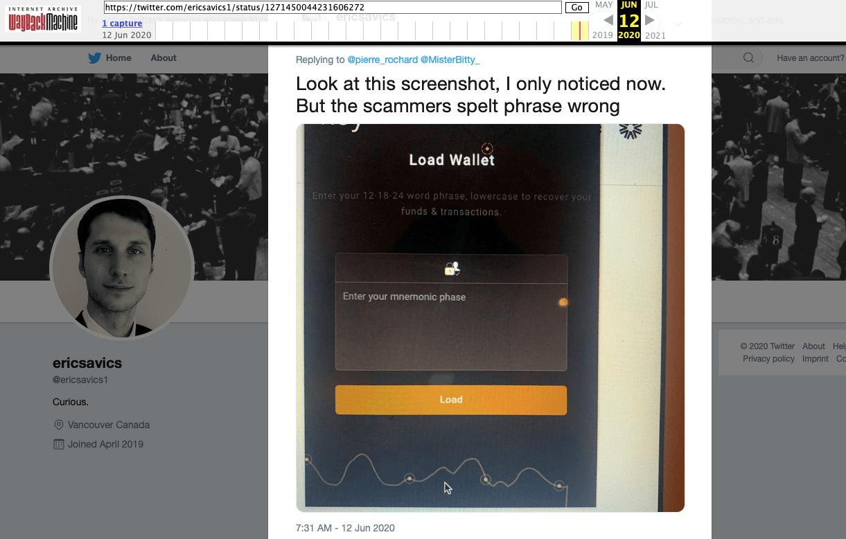 твит твиттер криптовалюты