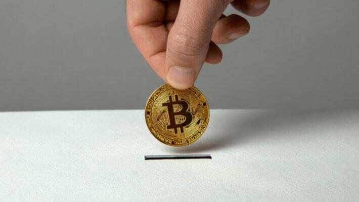 монета биткоин пожертвование