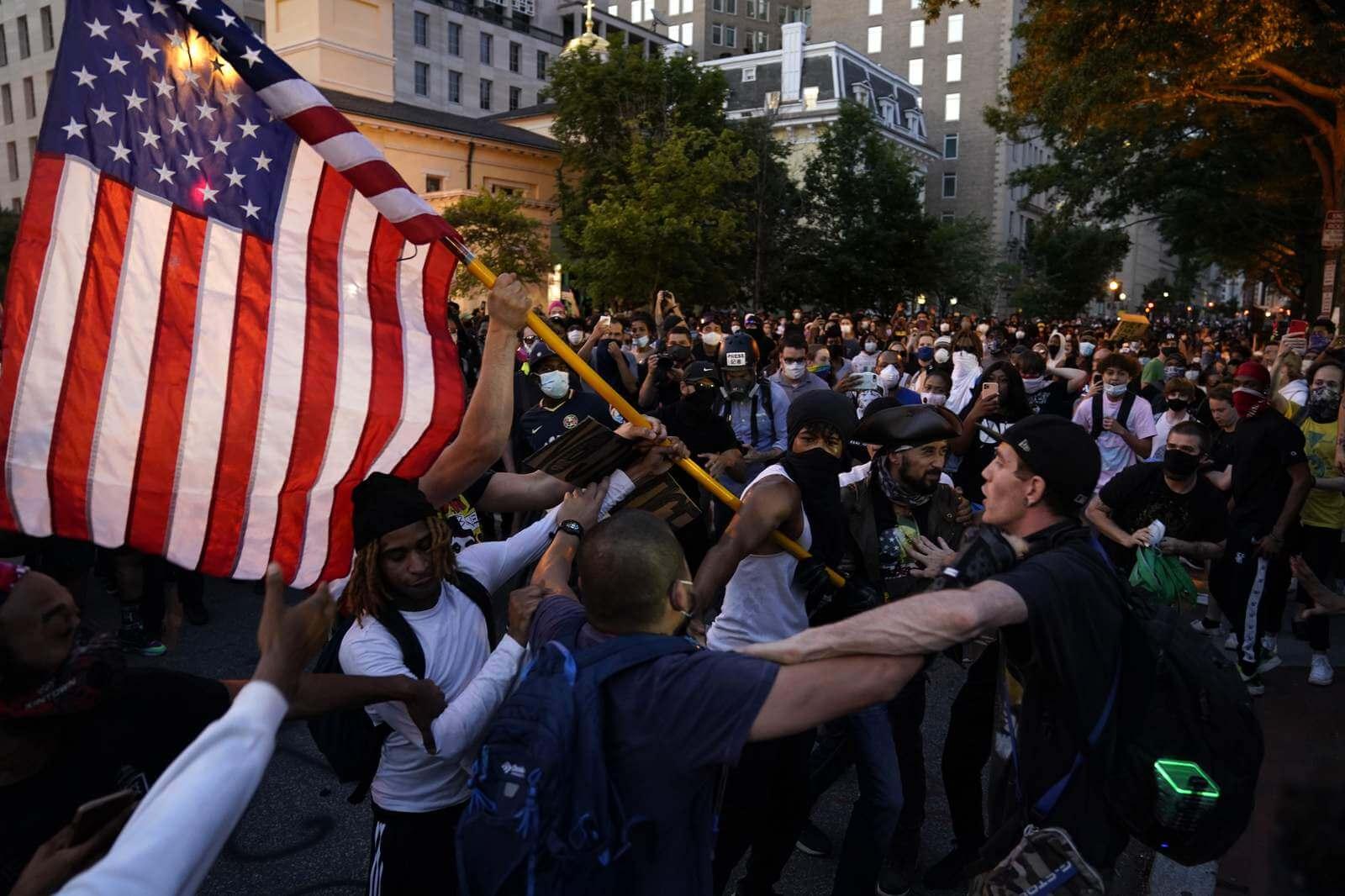 протесты США Америка
