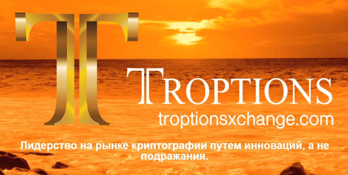 troptions сайт криптовалюта мошенники