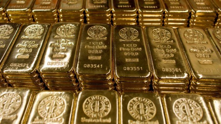 золото слитки металл