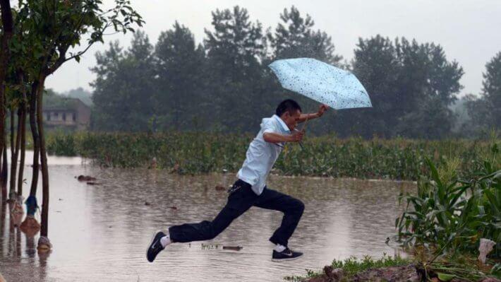 шторм китай наводнение