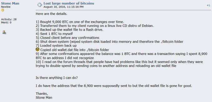 криптовалюта потеря Биткоин