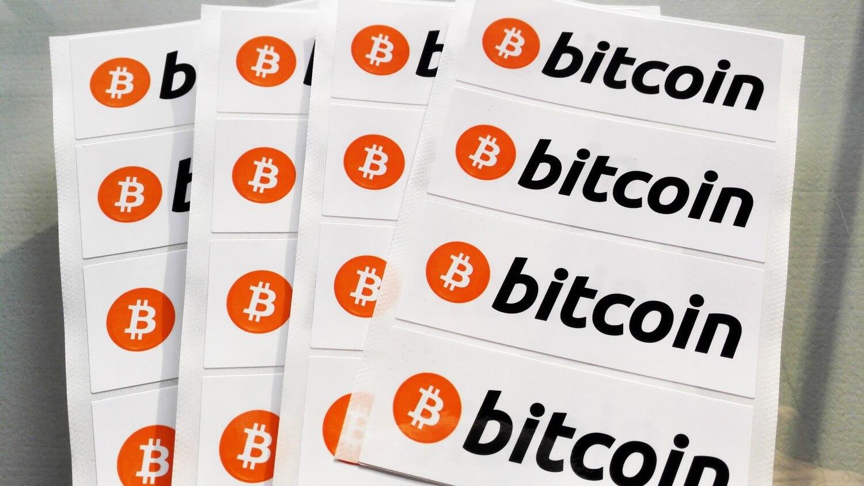 стикер Биткоин блокчейн