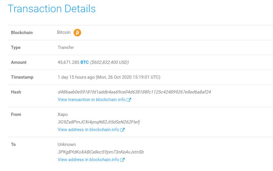 транзакция Биткоин блокчейн