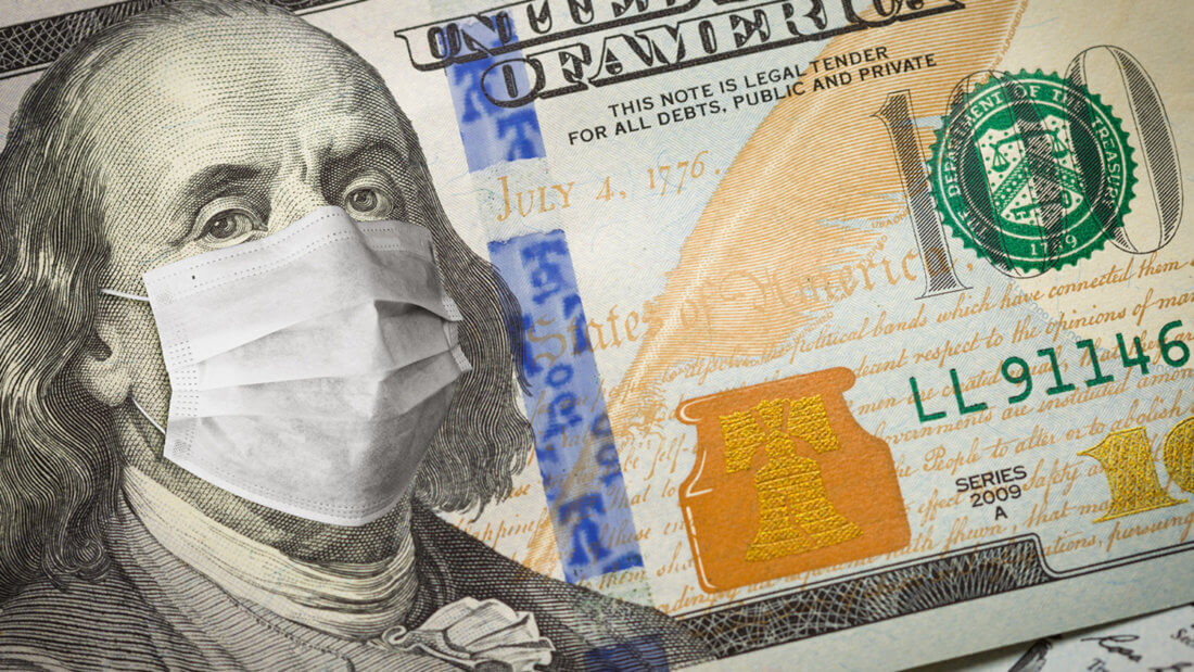 доллар маска коронавирус