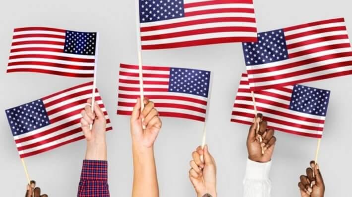 иммигранты Америка США флаг