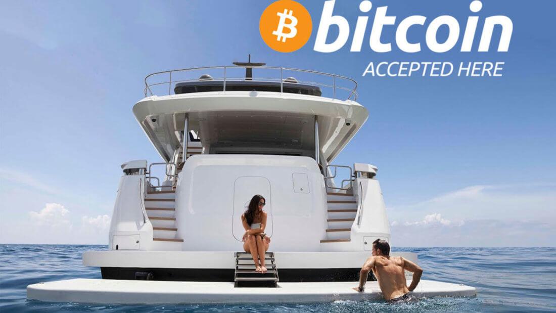 яхта Биткоин блокчейн