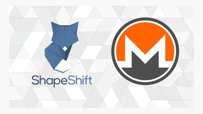 ShapeShift криптовалюты Monero