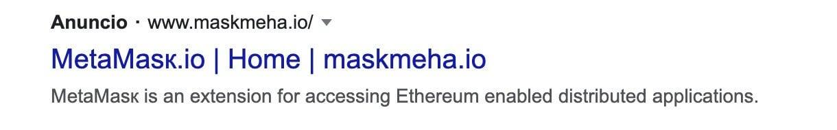 реклама MetaMask сообщение