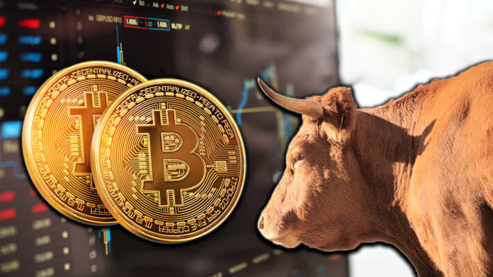 Биткоин бык рост криптовалюта трейдинг
