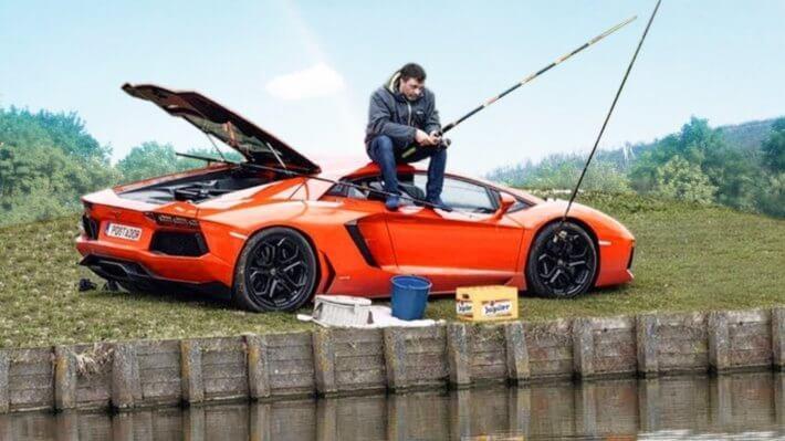 рыбалка Lamborghini авто
