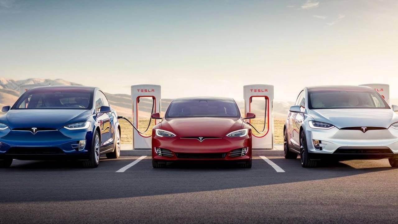 Tesla электрокар зарядка