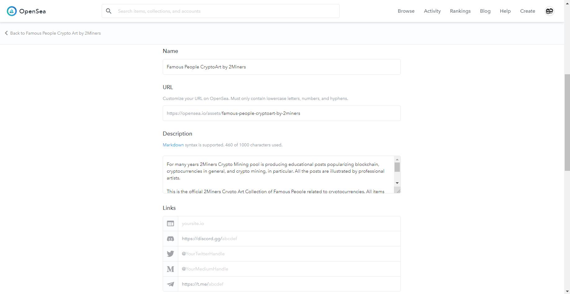 NFT токен OpenSea
