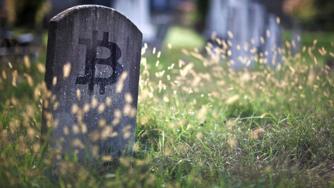 Биткоин надгробие криптовалюта