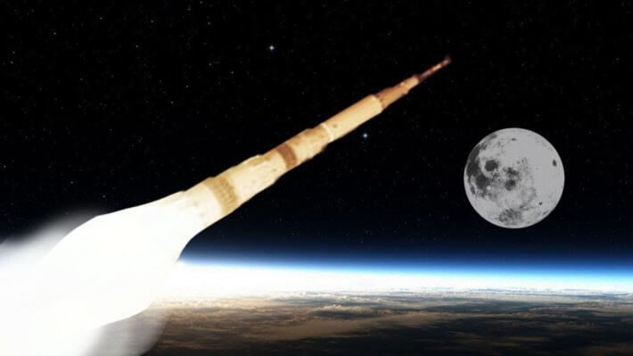 ракета полет Луна