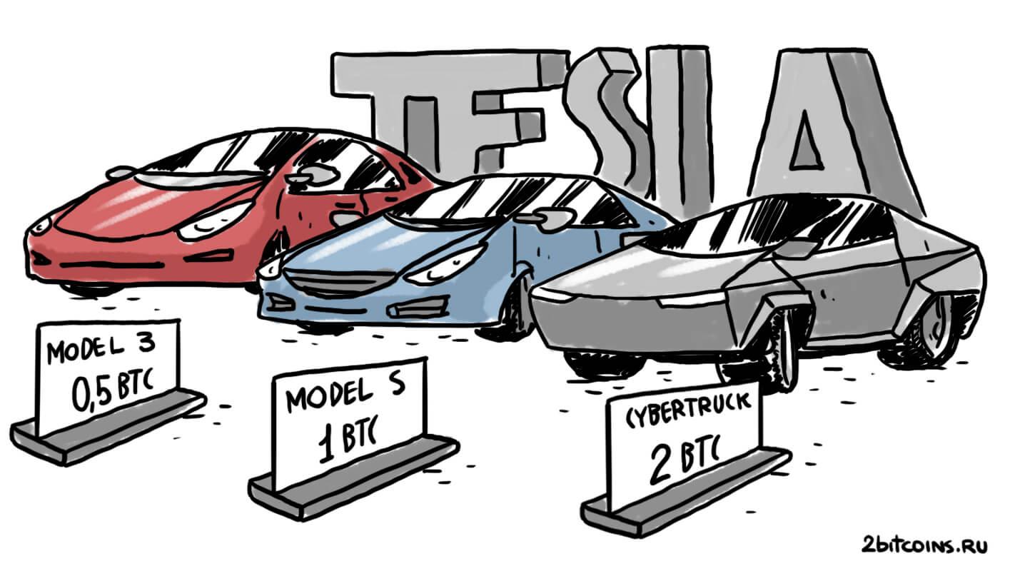 Tesla Биткоин криптовалюты