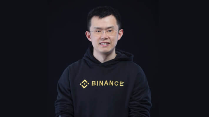 Чанпэн Чжао Binance биржа