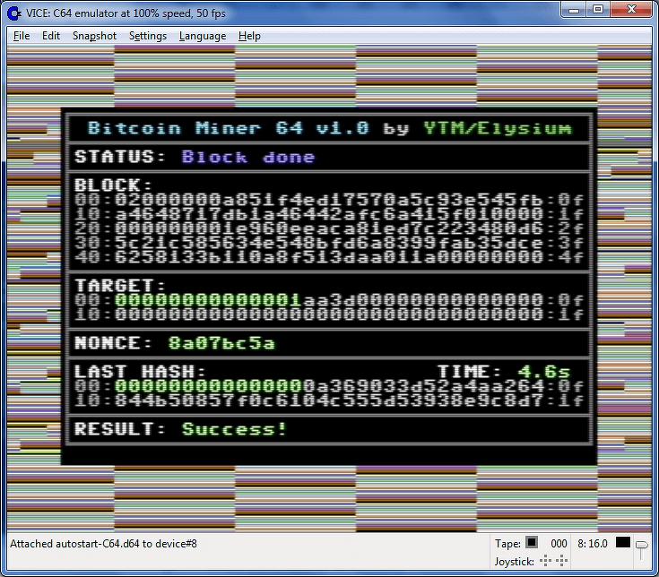 Commodore 64 майнинг компьютер