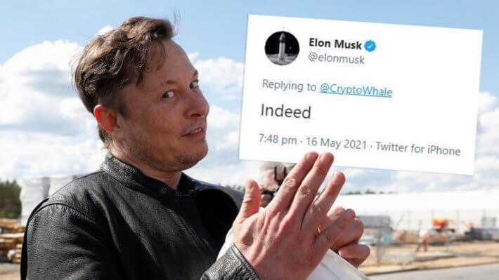 Илон Маск Tesla Биткоин блокчейн