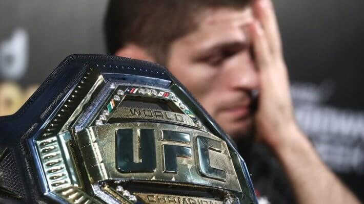 UFC пояс Хабиб Нурмагомедов